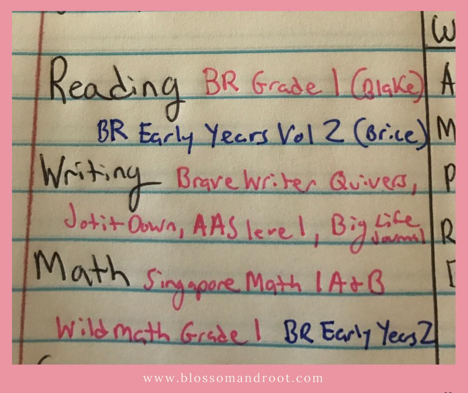 Big picture homeschool planning