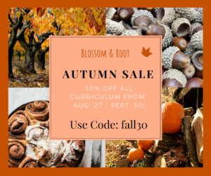 blossom and root homeschool curriculum sale