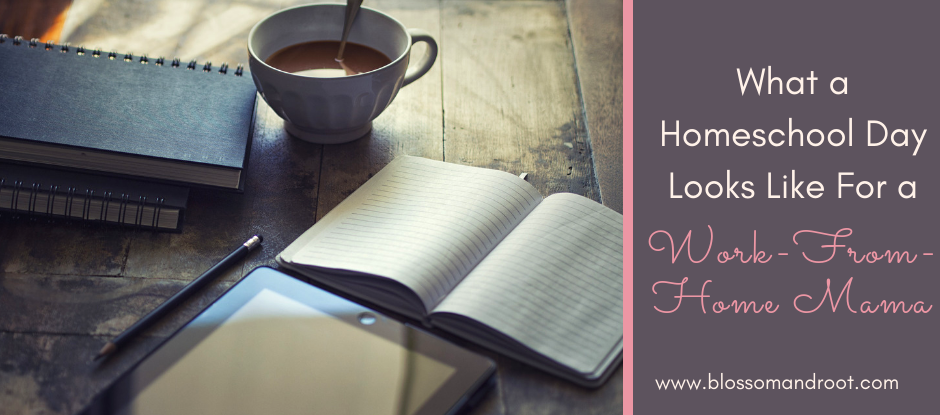 work from home while homeschooling