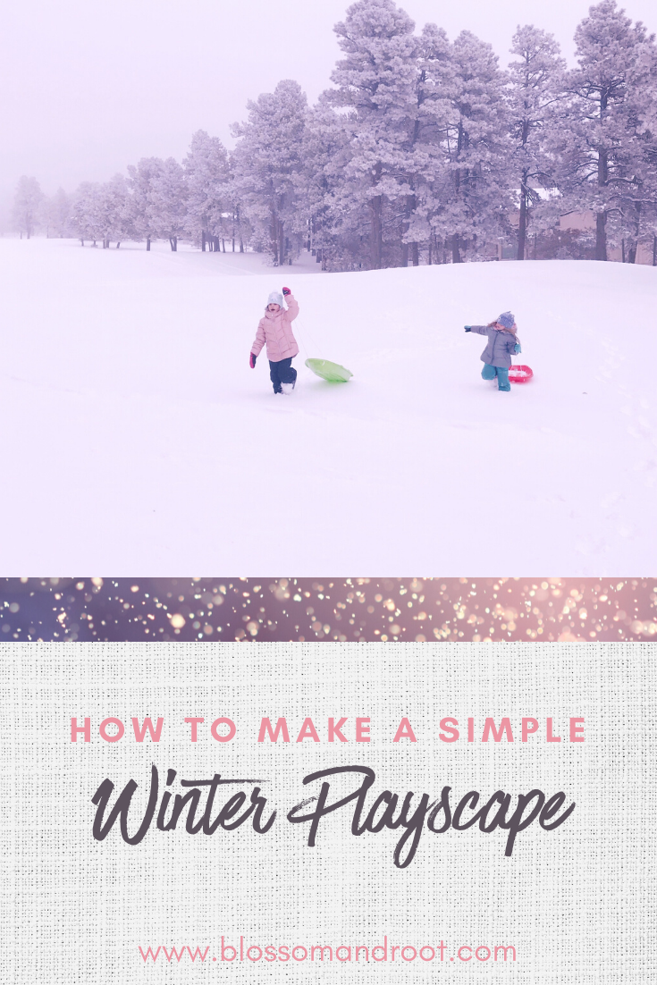 how to make a simple winter playscape