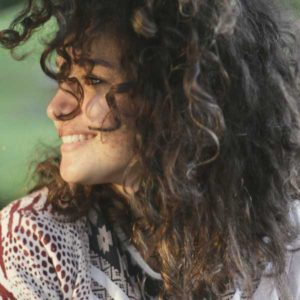 image of a woman with curly hair