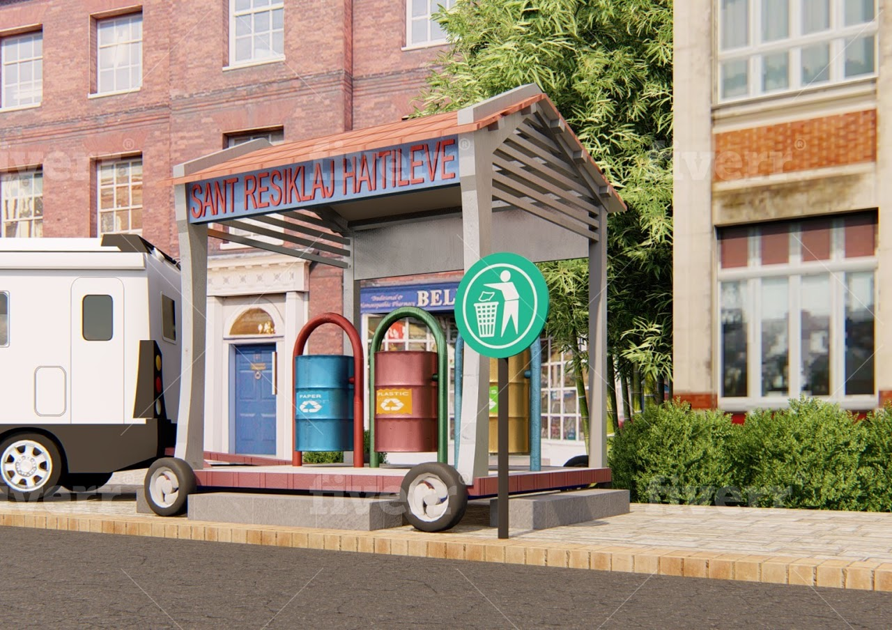 The streets of Hinche free  from waste by 2030: Circular economy, waste management