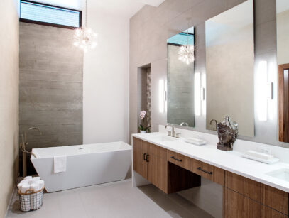 Model Home Bathroom made by Sawtooth Concepts