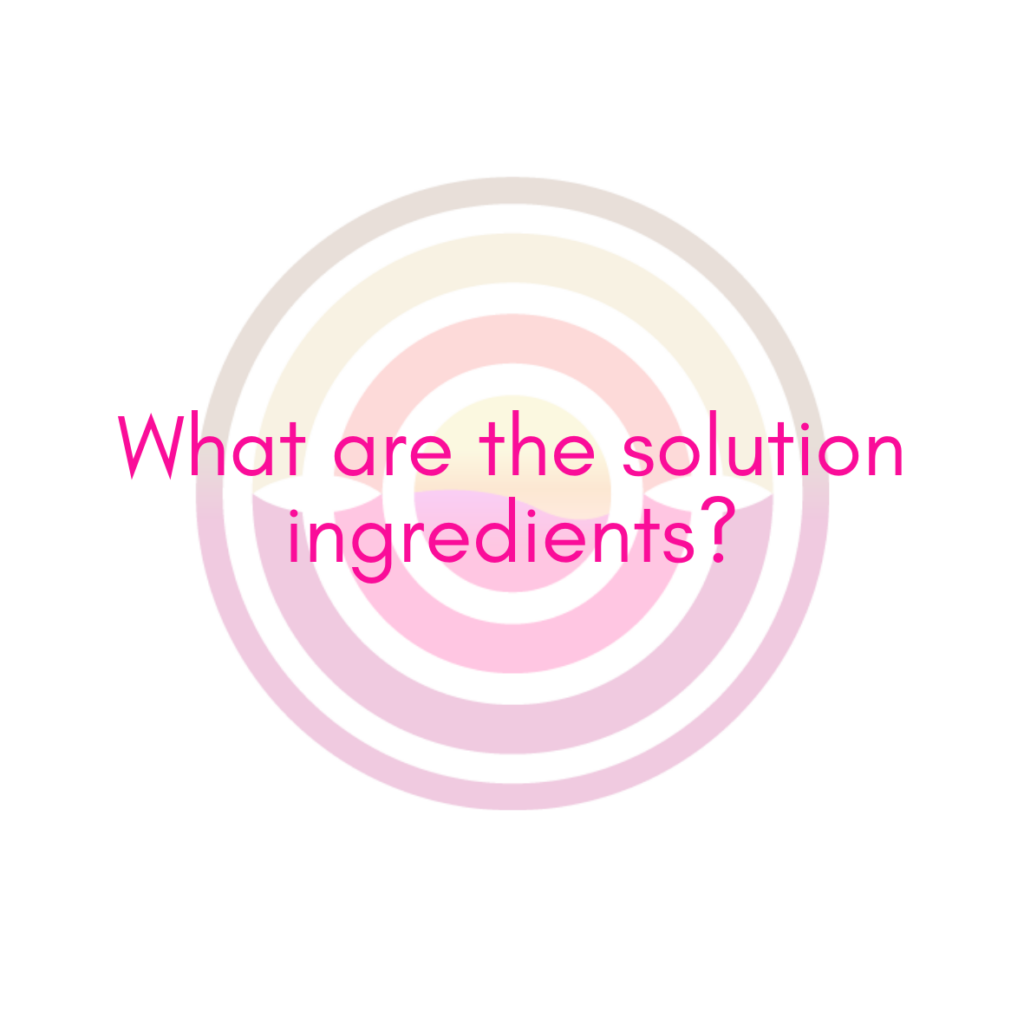 What are the spray tan solution ingredients