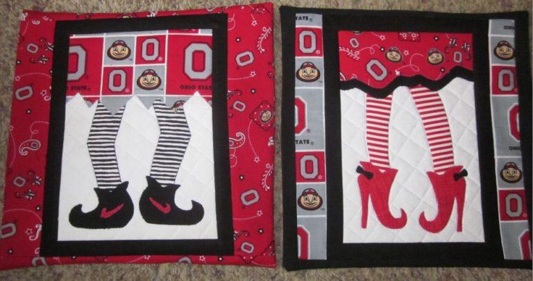 Buckeye Elf pillow covers