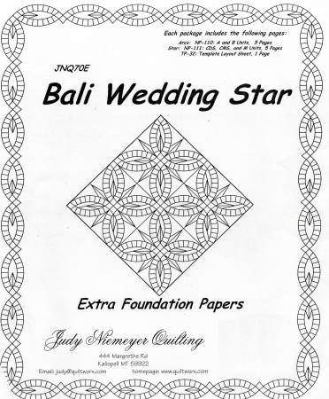 Bali Wedding Star Extra Foundation Papers
