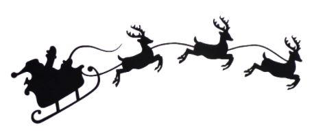 Santa and Reindeer Applique