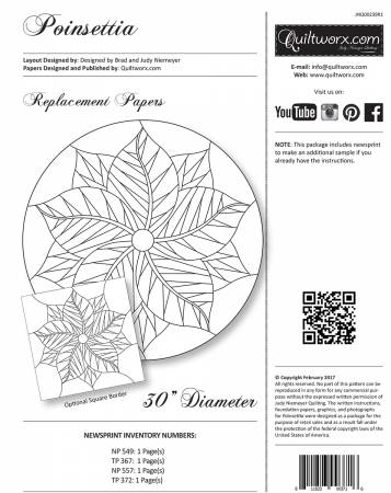 Poinsettia – Replacemenet Papers