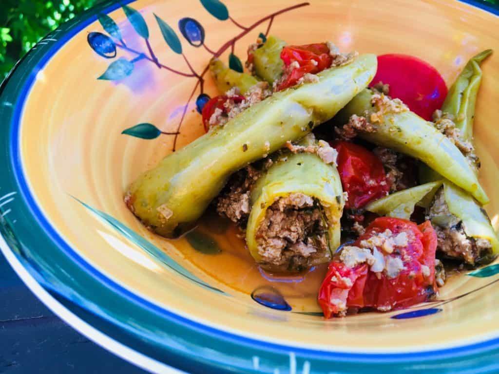 Turkey & Basil Peppers