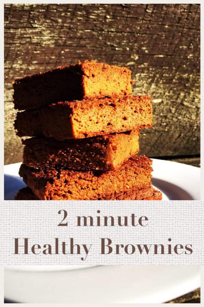 2 Minute Healthy Brownies