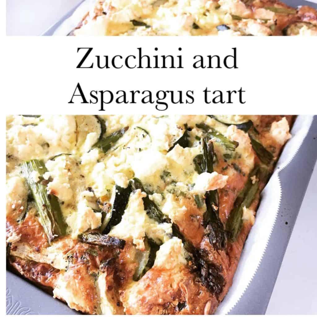 Zucchini and Asparagus Tart