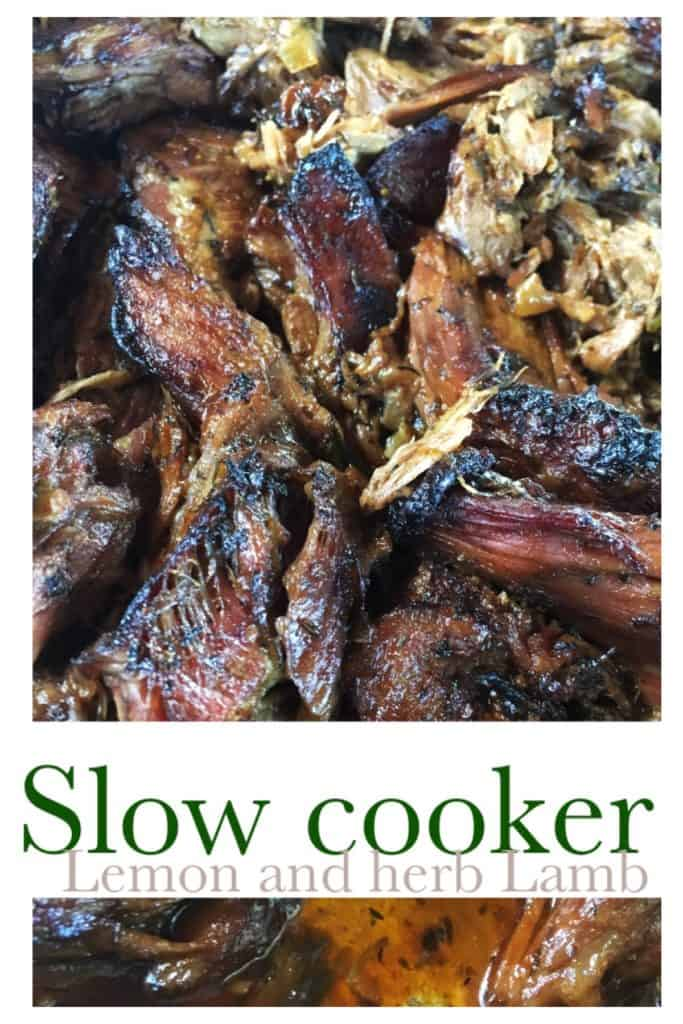 Slow Cooker Lamb with Lemon and Herbs