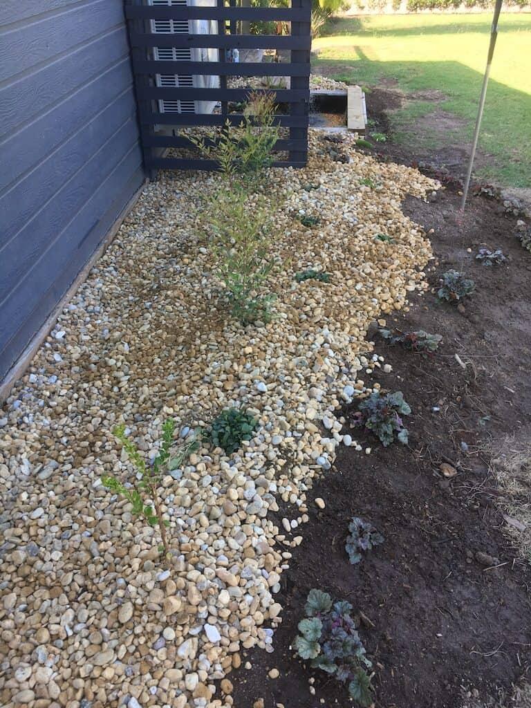 Inorganic mulch- river pebbles