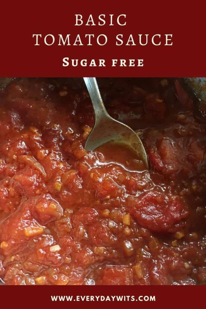 Basic sugar free tomato paste