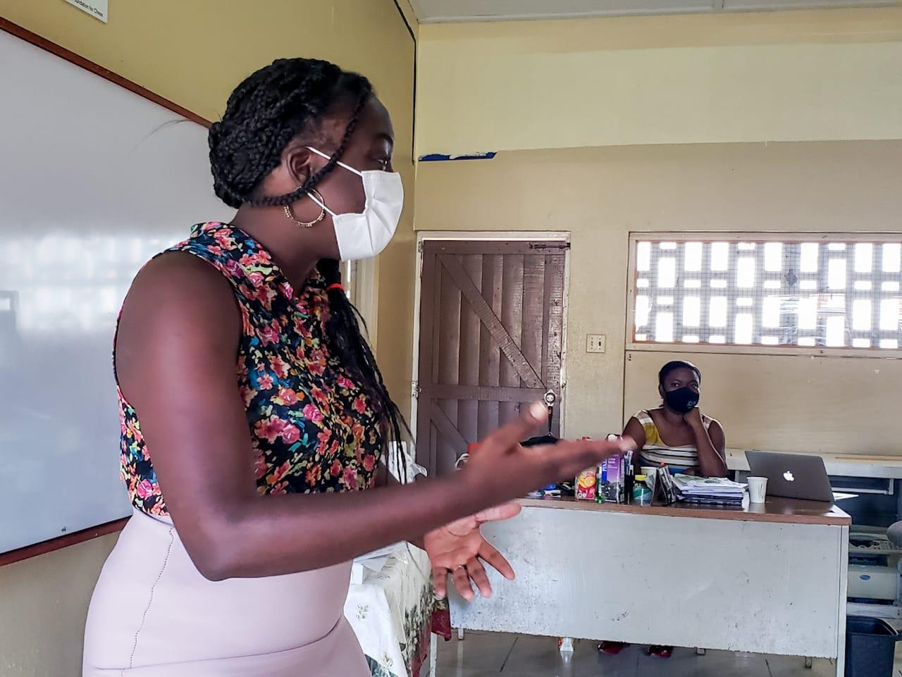 Teachers at the Parham Primary School receive Free Google Classroom Training