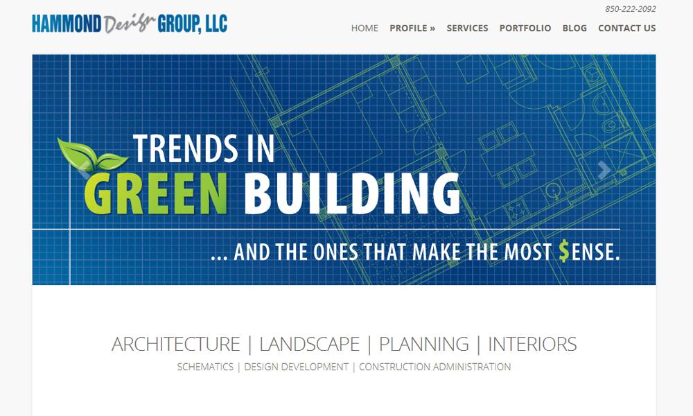 Website Design for Tallahassee Architect Hammond Design Group