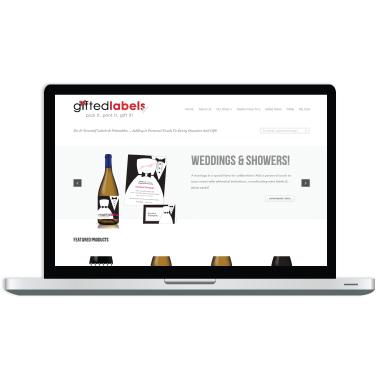 Gifted Labels Website Design