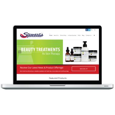 Stewart's Pharmacy Website Design
