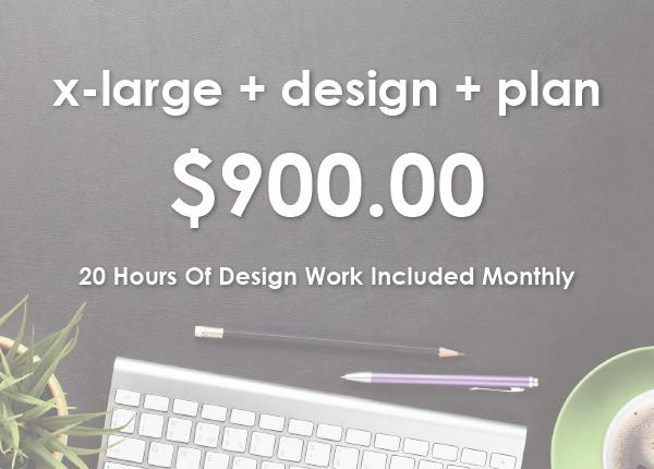 x-large + design + plan