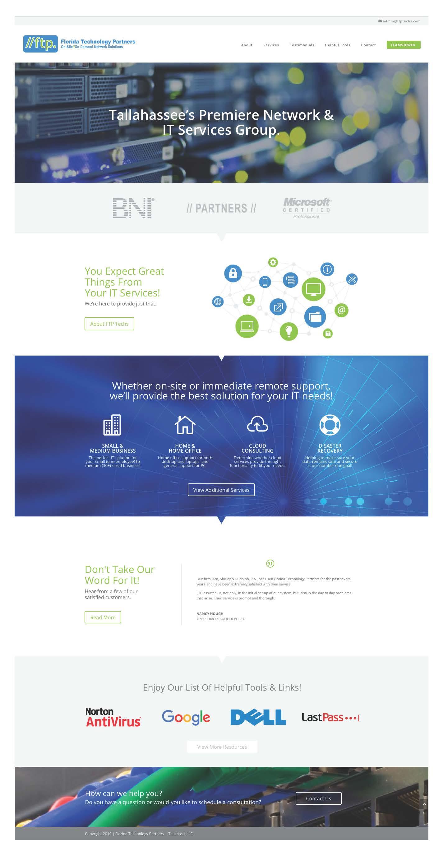 FTP Techs Website Design by LO+CO Design
