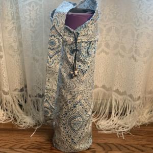 Blue & White Yoga Mat Bag
