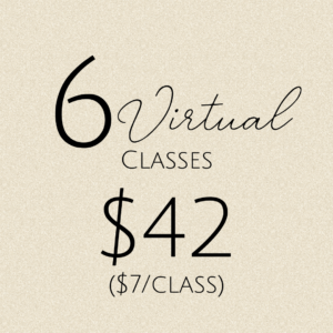 6 virtual classes: $42