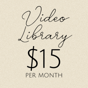 Video Library: $15/month