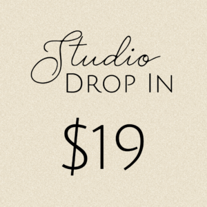 Studio Drop In: $19