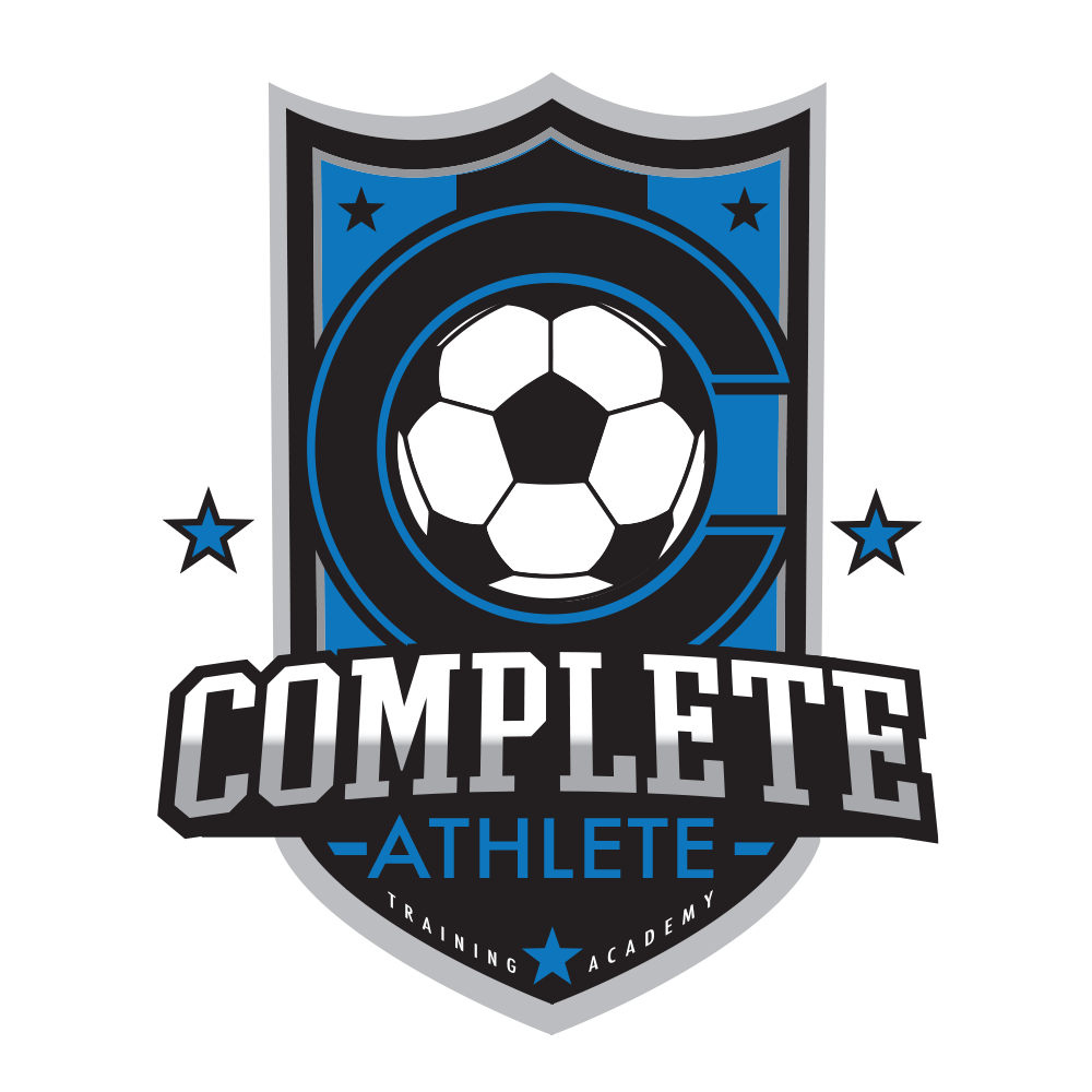 complete athlete inc logo of soccer ball with letter c around it in shield
