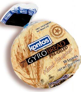 Kontos Gyro Bread 7″