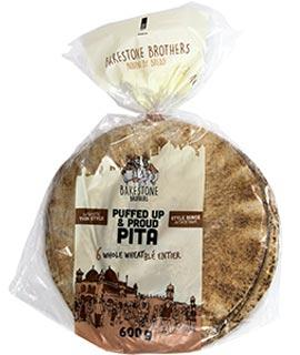 BB Puffed Up & Proud Pita Thin Style Whole Wheat Large