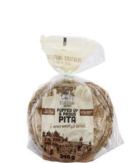 BB Puffed Up & Proud Pita Thin Style Whole Wheat Small