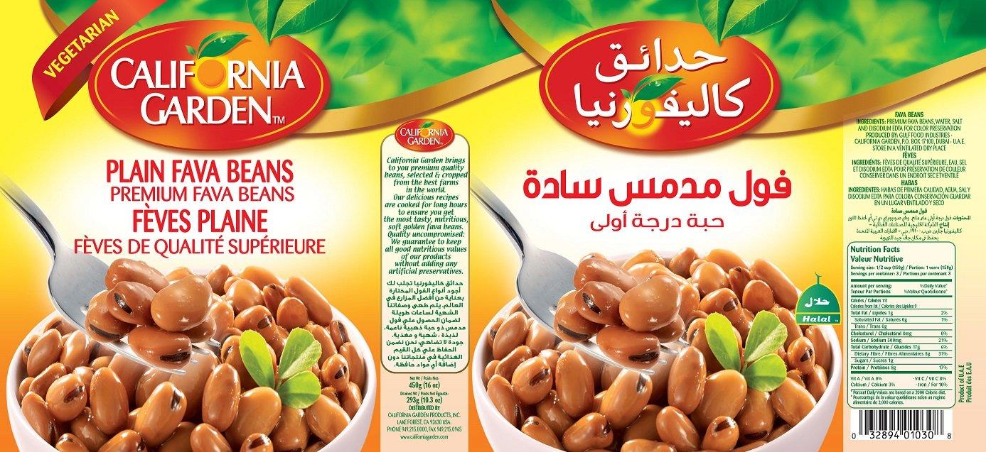 California Gardens Plain Fava Beans