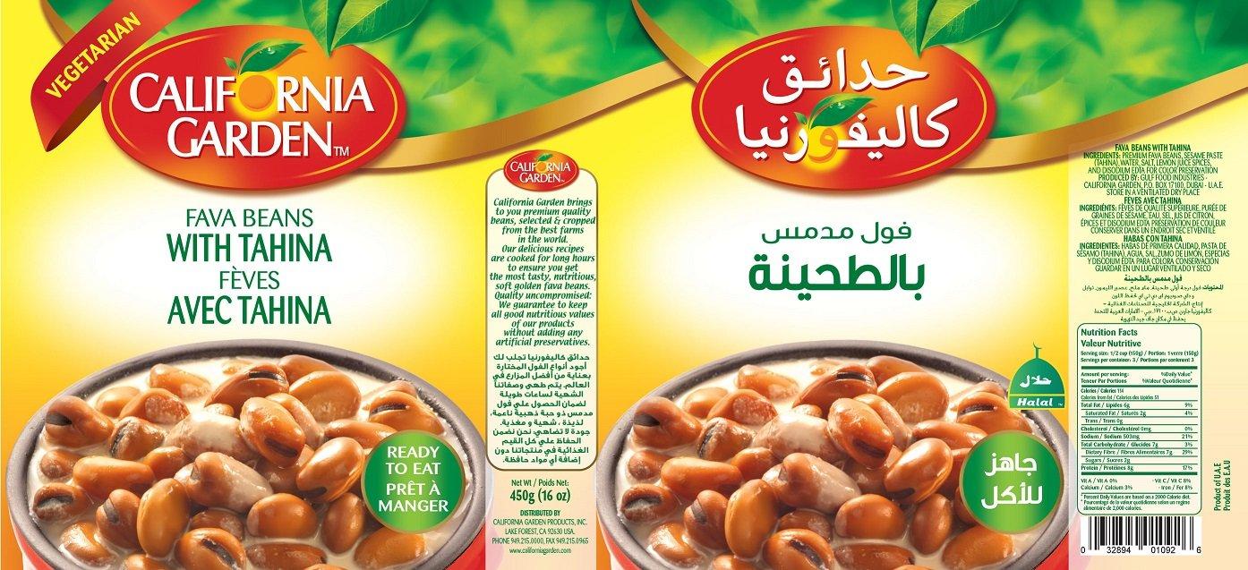 California Gardens Fava Beans with Tahini