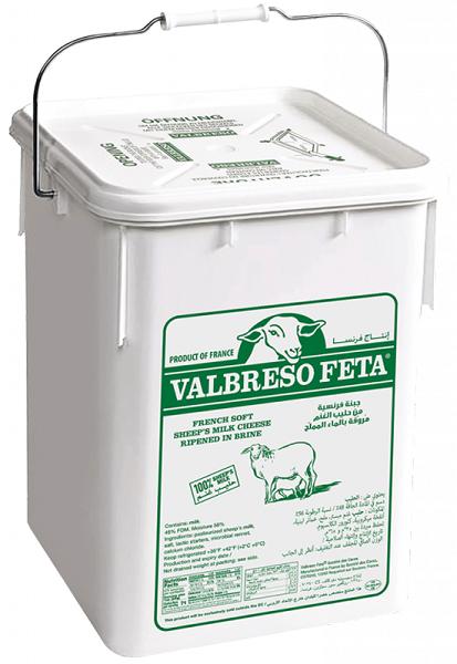 Valbreso French Sheep's Milk Feta in Pail