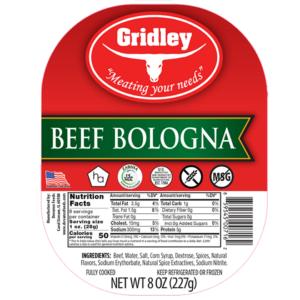 Gridley Halal Beef Bologna Sliced