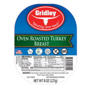 Gridley Halal Oven Roasted Turkey Breast Sliced