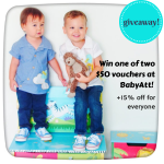 GIVEAWAY: Win one of two $50 vouchers at BabyAtt (+15% off for everyone)!