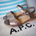 APC METALLIC SANDALS
