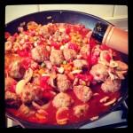 MY RECIPE BOX: homemade meatballs and red wine pasta
