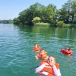 SWITZERLAND: canoe-ing at Lake Greifensee