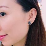 CHANEL F/W 2017 BLACK RESIN CRYSTAL EARRINGS