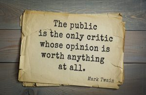 How is public opinion measured