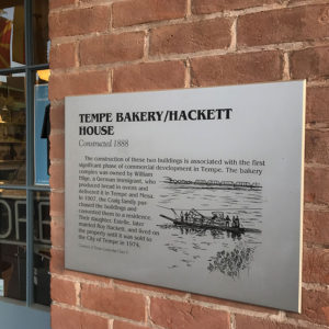 History Plaque at Hackett House