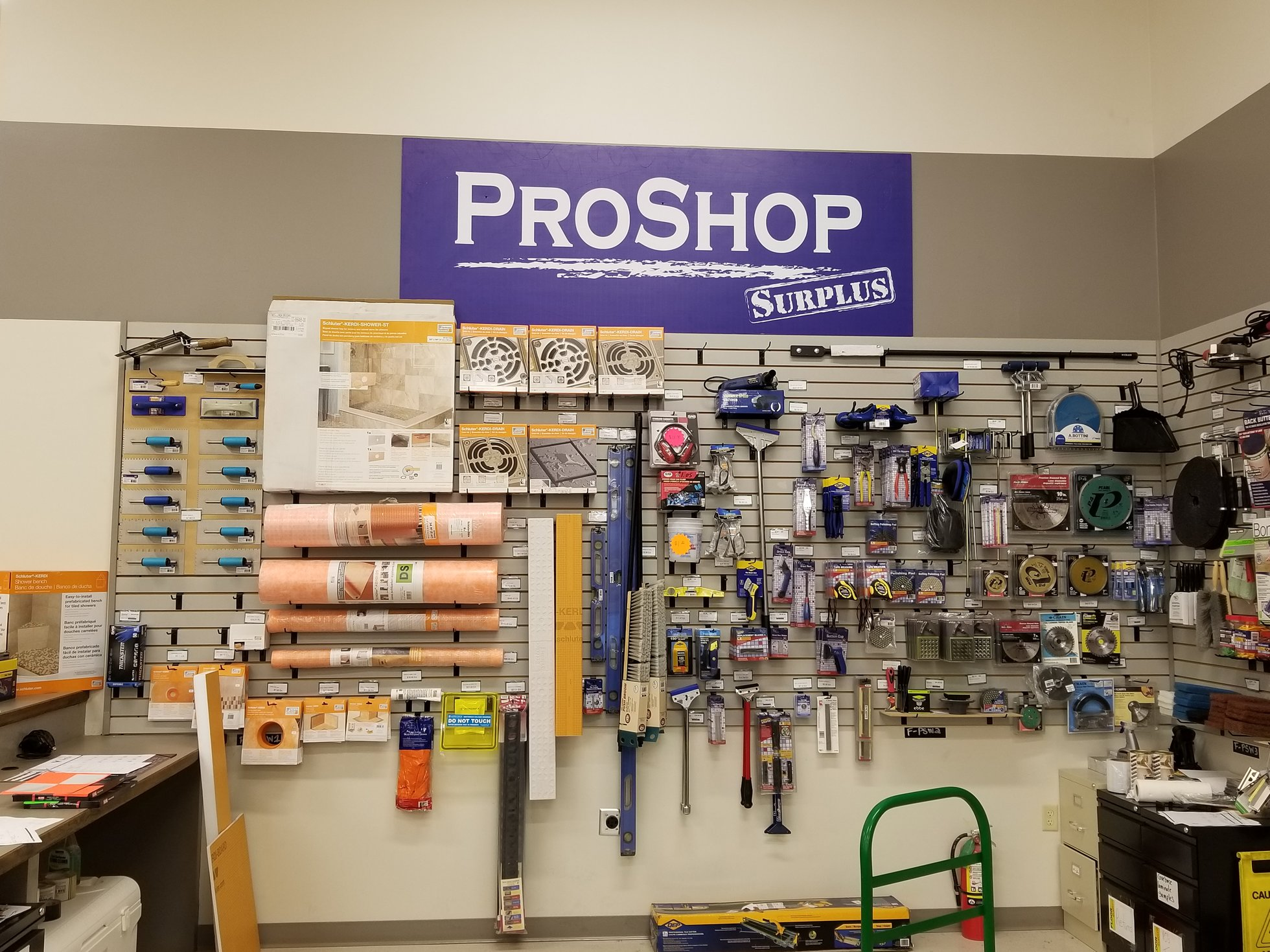 floor surplus proshop supplies