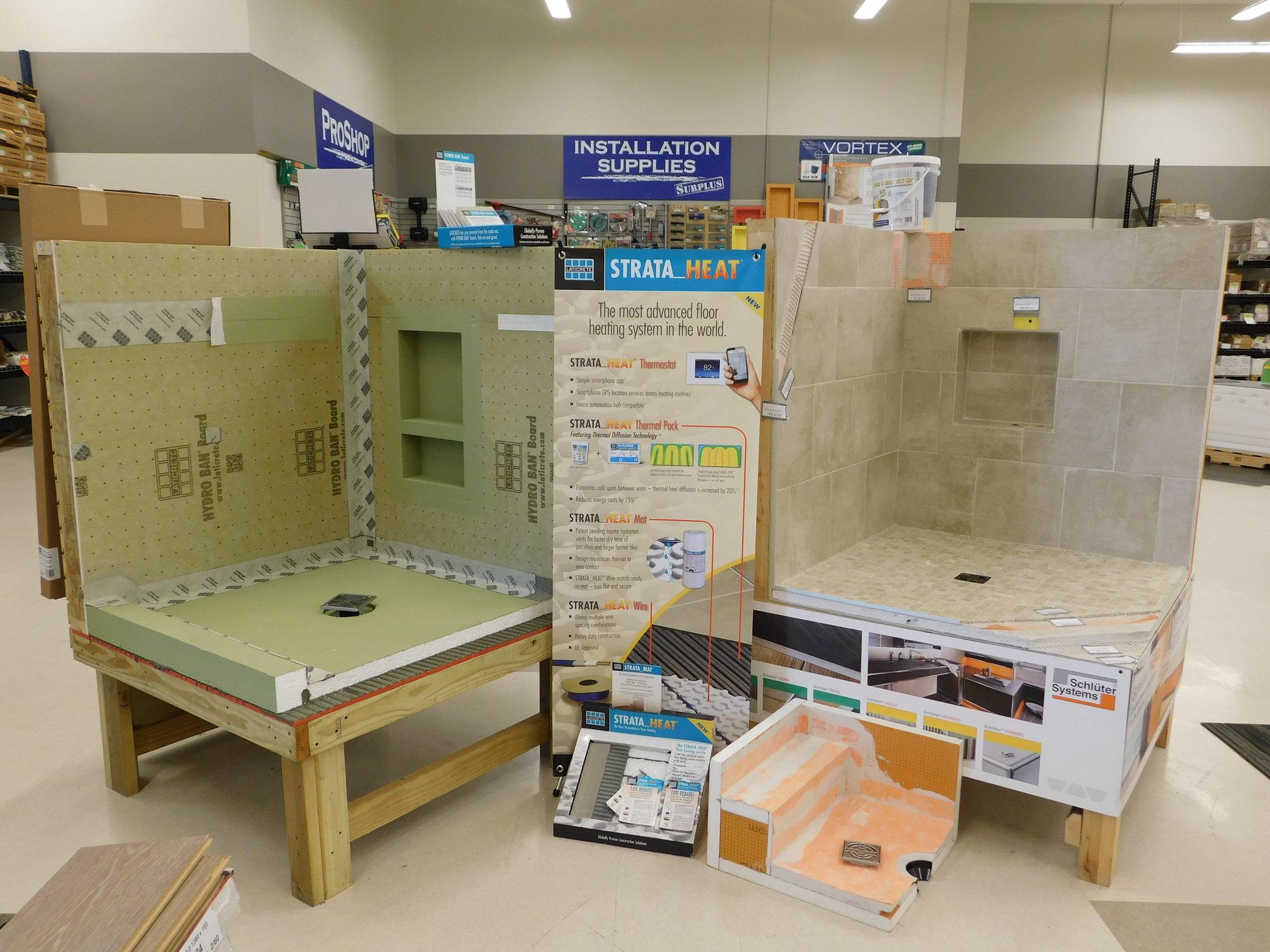 schluter laticrete shower systems