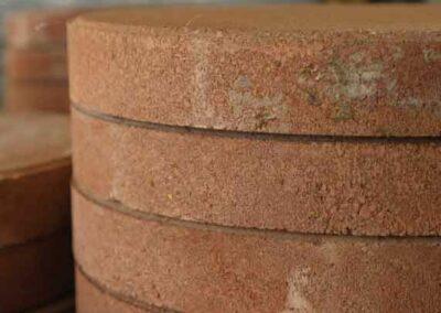 Round Brick Pavers