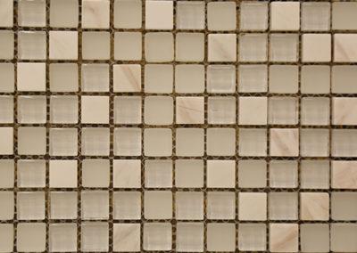 Red Stick Glass Bocage Bianco Mosaic