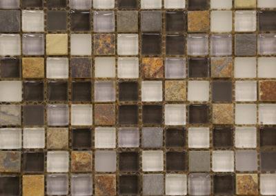 Red Stick Glass Spanish Town Slate Mosaic