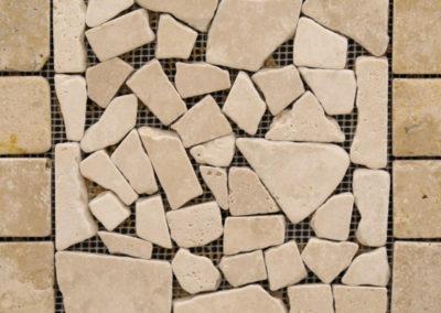 Trav Pebble Mosaics With Border Durango With Border
